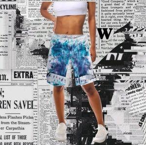 Blue tie dye bermuda cargo shorts size med…